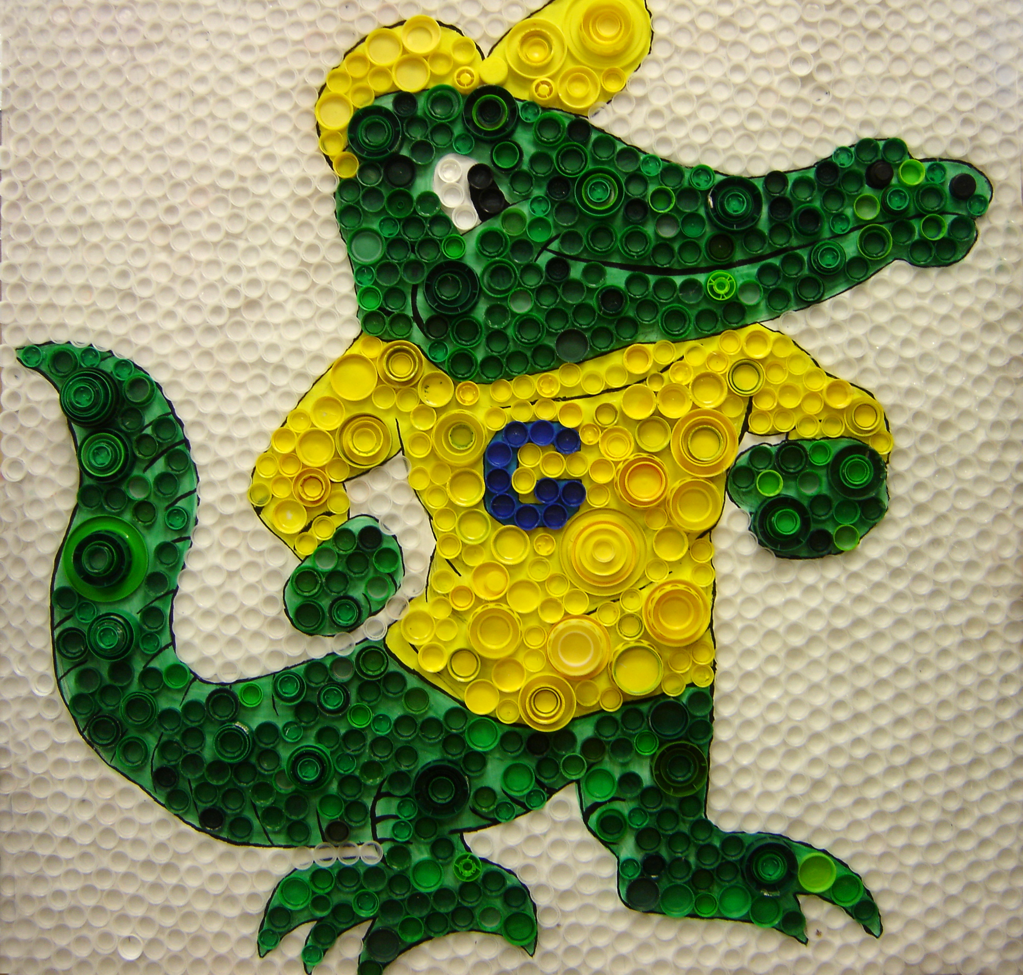 Gator created using recycled materials