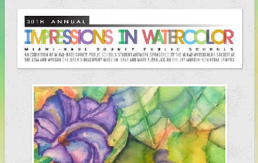 watercolor exhibit